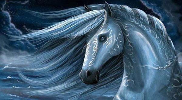Голубая лошадь 2014